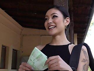 Public Agent Japanese beauty Rae Lil Black fucks for cash