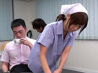 Gangbang pleasures for cute Asian