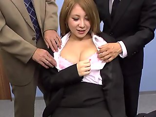JAVHUB Mariru Amamiya gangbanged by her coworkers