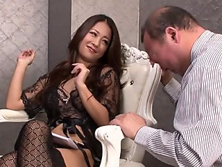 Big tit slut Asian takes cock
